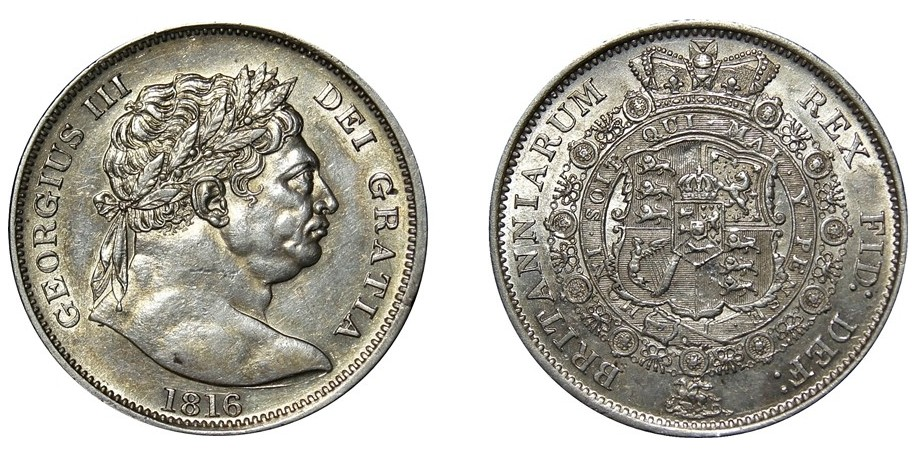 George III, Silver Half-crown, 1816