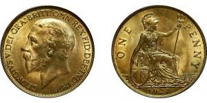 George V, Bronze Penny, 1927 ME
