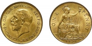 George V, Bronze Penny, 1931
