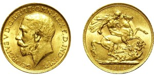 George V, Gold Sovereign, 1912