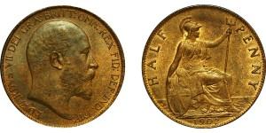 Edward VII, Bronze Halfpenny, 1902