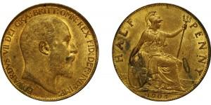 Edward VII, Bronze Halfpenny, 1904