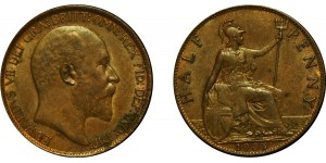 Edward VII, Bronze Halfpenny, 1905