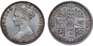 Victoria, Silver 'Godless' Florin 1849