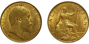 Edward VII, Bronze Halfpenny, 1907