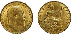 Edward VII, Bronze Halfpenny, 1910