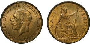 George V, Bronze Halfpenny, 1927