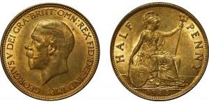 George V, Bronze Halfpenny, 1935