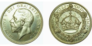 George V. Silver Proof Crown, 1927