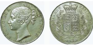 Victoria, Silver Crown, 1845
