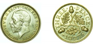George V, Silver Proof  Threepence, 1927