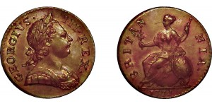 George III, Copper Halfpenny, 1771