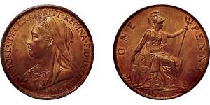 Victoria, Bronze Penny, 1896