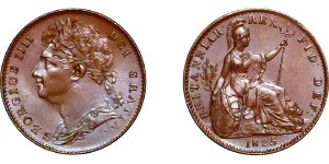 George IV, Copper Farthing, 1825