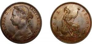 Victoria, Bronze Penny, 1875
