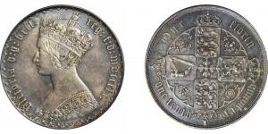 Victoria, Gothic Silver Florin, 1860