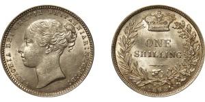 Victoria, Silver Shilling, 1868.