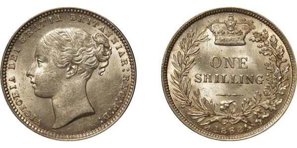 Victoria, Silver Shilling, 1866.