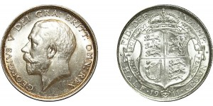 George V, Silver Half-crown, 1911
