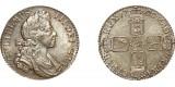 William III, Silver Shilling, 1696