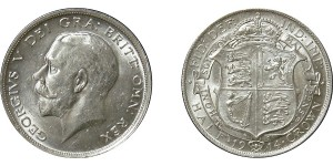 George V, Silver Half-crown, 1914
