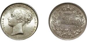 Victoria, Silver Shilling, 1842.