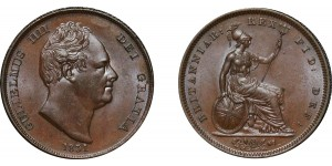 William IV, Copper Penny, 1831