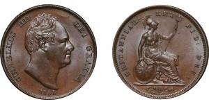 William IV, Copper Penny, 1831