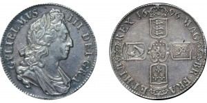 William III, Silver Crown, 1696