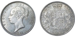 Victoria, Silver Half-crown, 1874