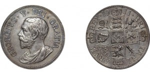 George V. Pattern Double Silver Florin. 1911.