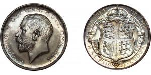 George V, Silver Proof Half-crown, 1911