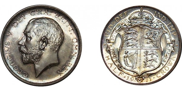 George V, Silver Proof Half-crown, 1927