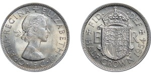 Elizabeth II, Half-crown. 1954