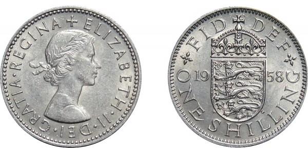 Elizabeth II, Scottish Shilling, 1958.