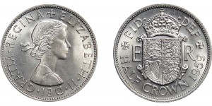 Elizabeth II, Half-crown. 1959