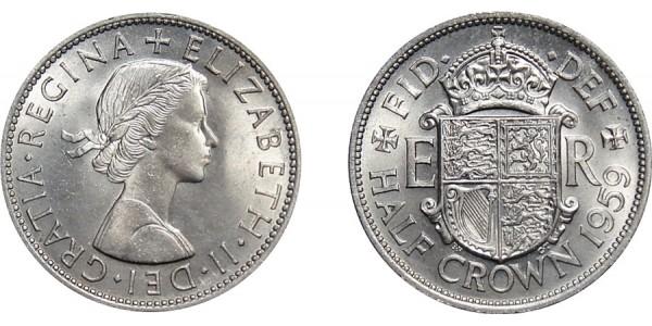 Elizabeth II, Half-crown. 1959