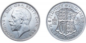 George V, Silver Half-crown, 1930.