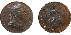 George III, Copper Halfpenny, 1770