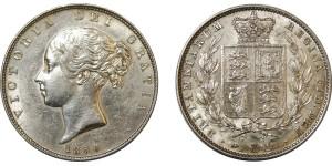 Victoria, Silver Half-crown, 1850.