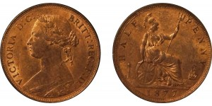 Victoria, Bronze Halfpenny, 1877. F.333