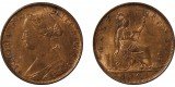 Victoria, Bronze Halfpenny, 1861. F.270