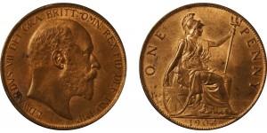 Edward VII, Bronze Penny, 1904