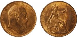 Edward VII, Bronze Penny, 1906
