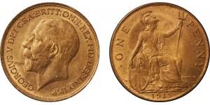 George V, Bronze Penny, 1915