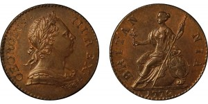 George III, Copper Halfpenny, 1772