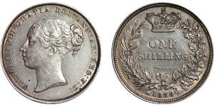 Victoria, Silver Shilling, 1839
