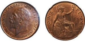 George V, Bronze Penny, 1926 ME