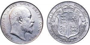 Edward VII, Silver Half-crown, 1907