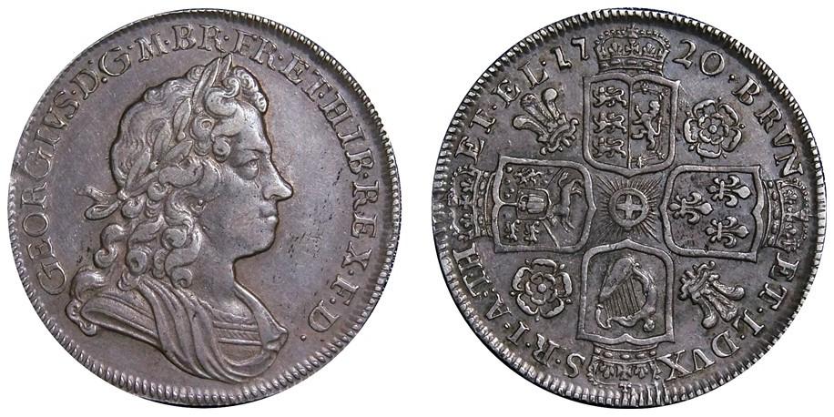 George II, Silver Half-crown, 1720